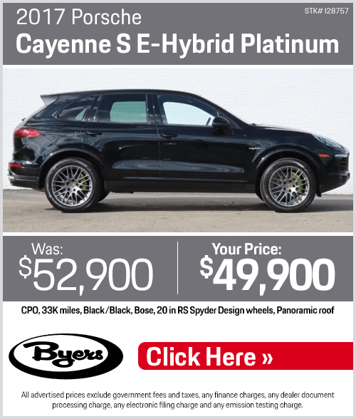 2017 Porsche Cayenne S E-Hybrid Platinum Pre-Owned Special in Columbus, OH