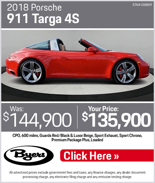 2018 Porsche 911 Targa 4S Pre-Owned Special in Columbus, OH