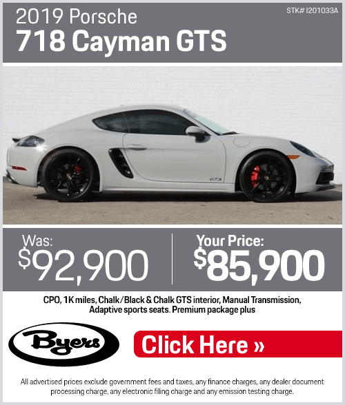2019 Porsche 718 Cayman GTS Pre-Owned Special in Columbus, OH