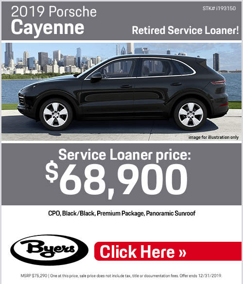 2019 Porsche Cayenne Retired Service Loaner Purchase Special at Byers Porsche in Columbus, OH