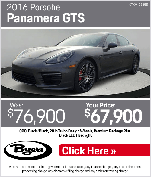 2016 Porsche Panamera GTS Pre-Owned Special in Columbus, OH