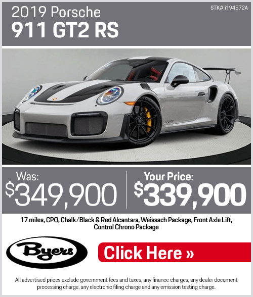 2019 Porsche 911 GT2 RS Pre-Owned Special in Columbus, OH