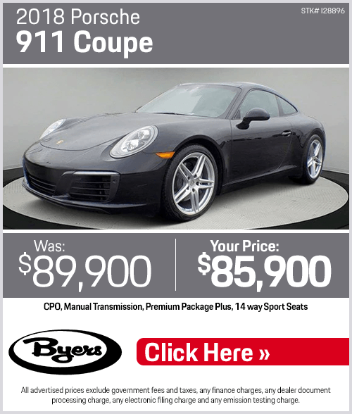 2018 Porsche 911 Coupe Pre-Owned Special in Columbus, OH
