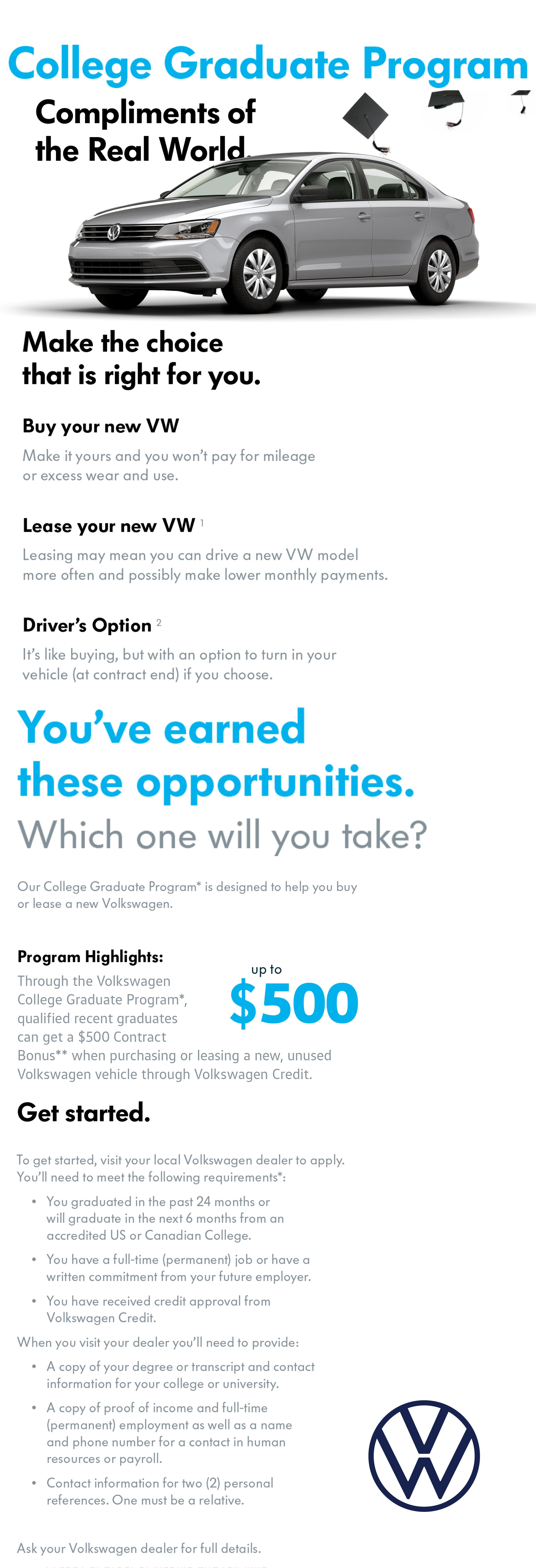 Volkswagen's College Grad Program | Byers Volkswagen