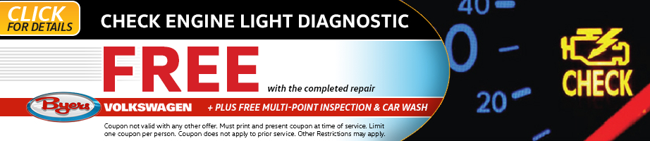 Click to see more information about this Volkswagen multi-point inspection service special from Byers Volkswagen