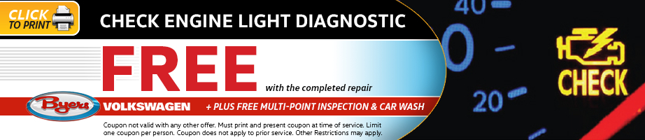 Click to print this Volkswagen multi-point inspection service special from Byers Volkswagen