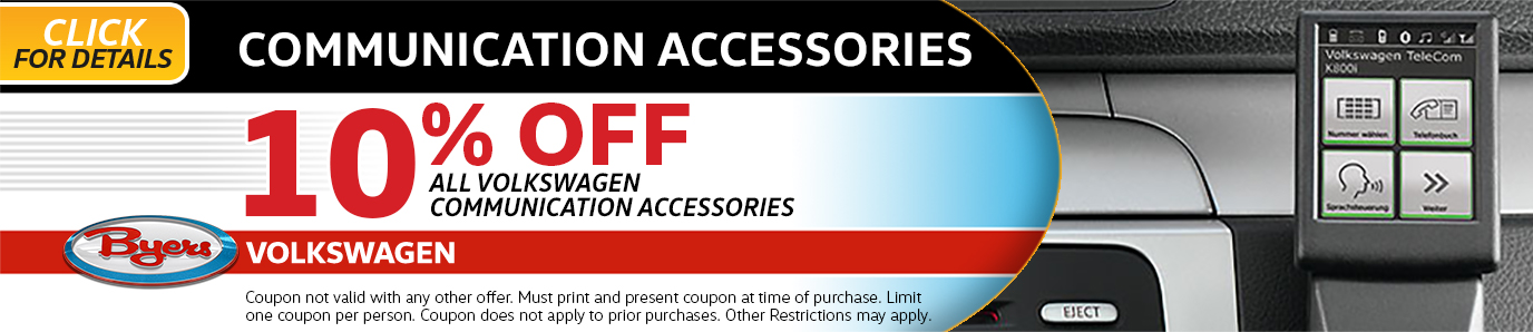 Click to view our Volkswagen Communication Accessories Parts Special in Columbus, OH