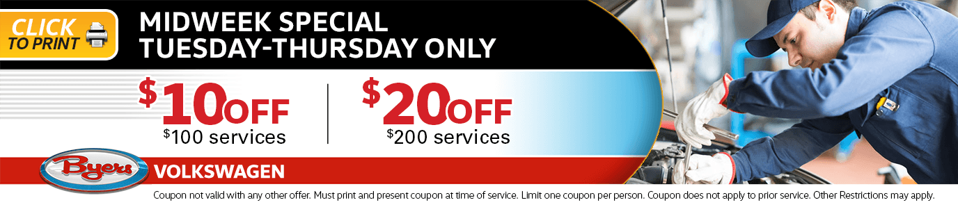 Midweek Special Tuesday through Thursday Only Service Special in Columbus, OH
