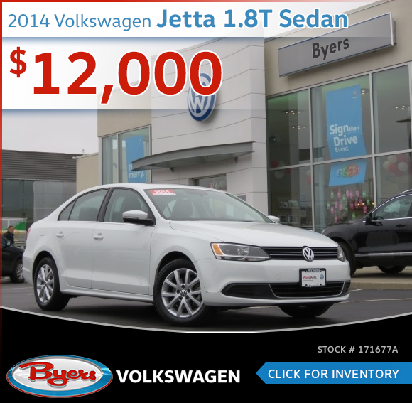 Save On this 2014 Volkswagen Jetta 1.8T Sedan at Byers Volkswagen serving Columbus, OH
