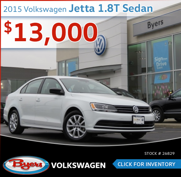 Save On this 2015 Volkswagen Jetta 1.8T Sedan at Byers Volkswagen serving Columbus, OH