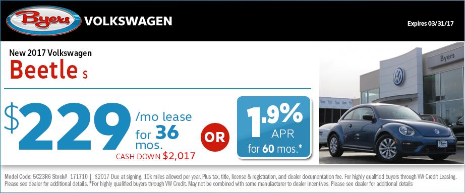 2017 Volkswagen Beetle S Lease Special in Columbus, OH