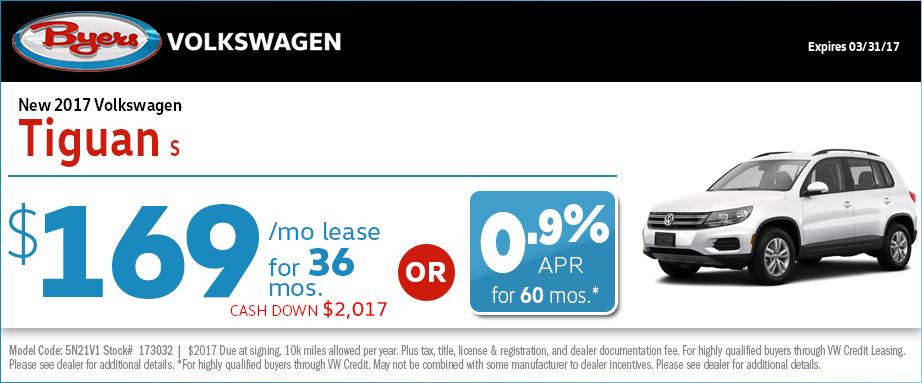 2017 Volkswagen Tiguan Lease Special in Columbus, OH