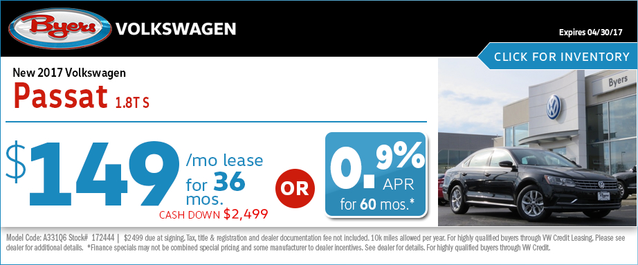 2017 Volkswagen Passat S Lease Special in Columbus, OH