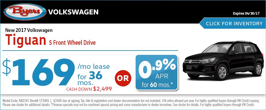 2017 Volkswagen Tiguan S Lease Special in Columbus, OH
