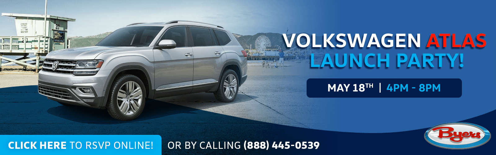 Click to join us for the new VW Atlas launch event at Byers Volkswagen