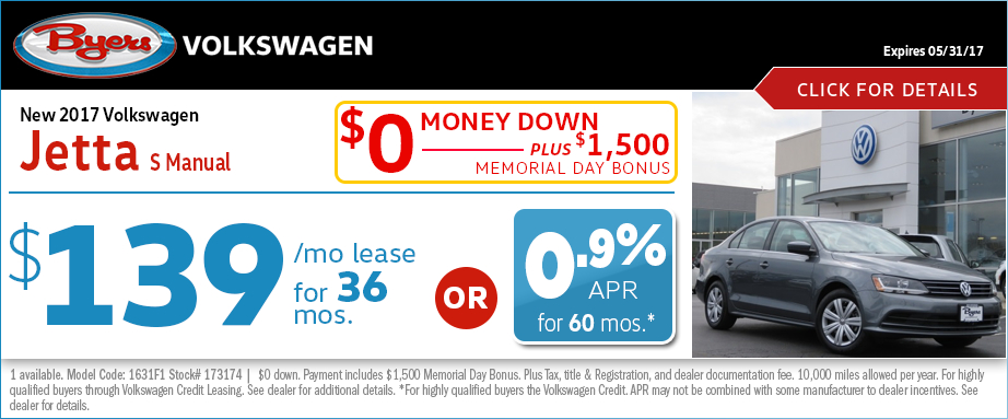 2017 Volkswagen Jetta S Manual Lease or Low APR Special in Columbus, OH