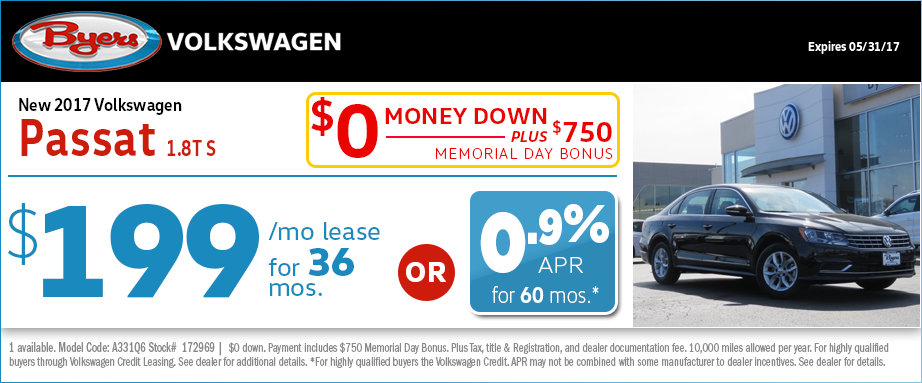2017 Volkswagen Passat S Lease or Low APR Special in Columbus, OH