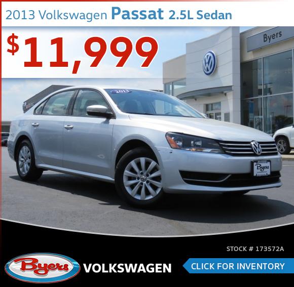 2013 Volkswagen Passat 2.5L Sedan Pre-Owned Special in Columbus, OH