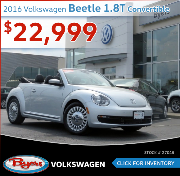2016 Volkswagen Beetle 1.8T Convertible Pre-Owned Special in Columbus, OH