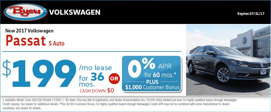 2017 Volkswagen Passat S Lease or Low APR Special in Columbus, OH