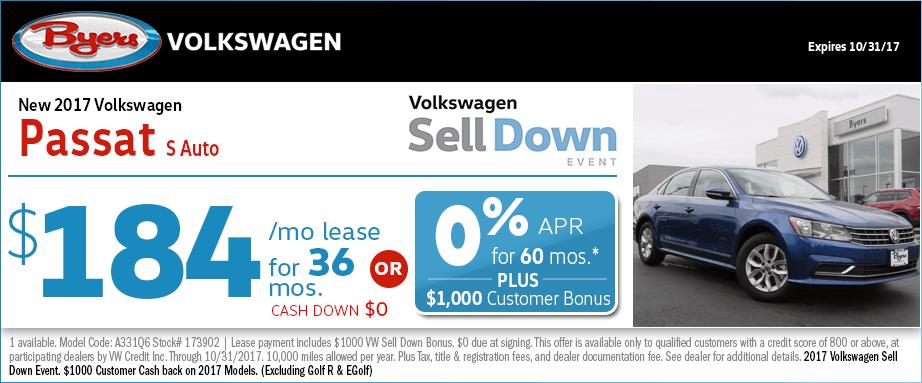 2017 Volkswagen Passat S Lease Special