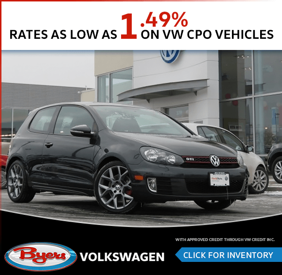 Rates as low as 1.49% on VW CPO Vehicles in Columbus, OH