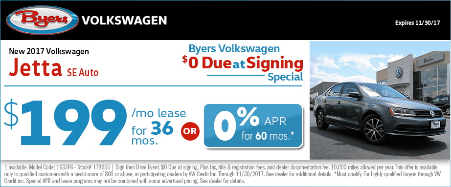 2017 Volkswagen Jetts SE Auto Lease or Financing Special