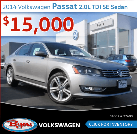 2014 Volkswagen Passat 2.0L TDI SE Sedan Pre-Owned Sales Special in Columbus, OH
