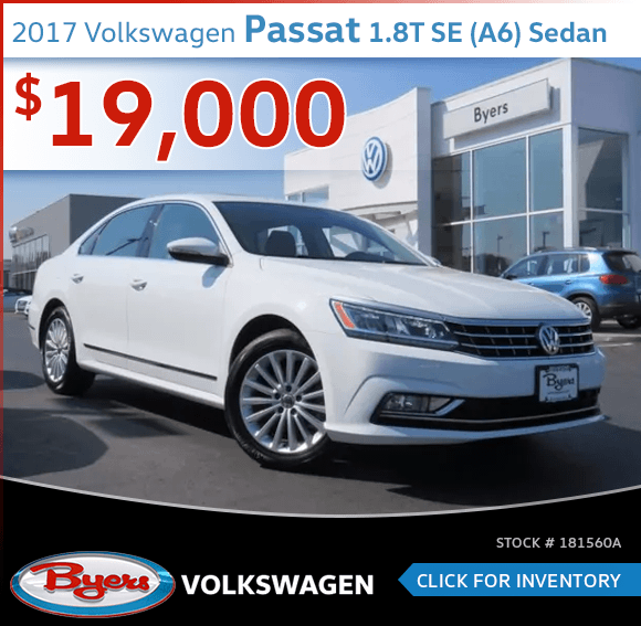 2017 Volkswagen Passat 1.8T SE Sedan Pre-Owned Sales Special in Columbus, OH