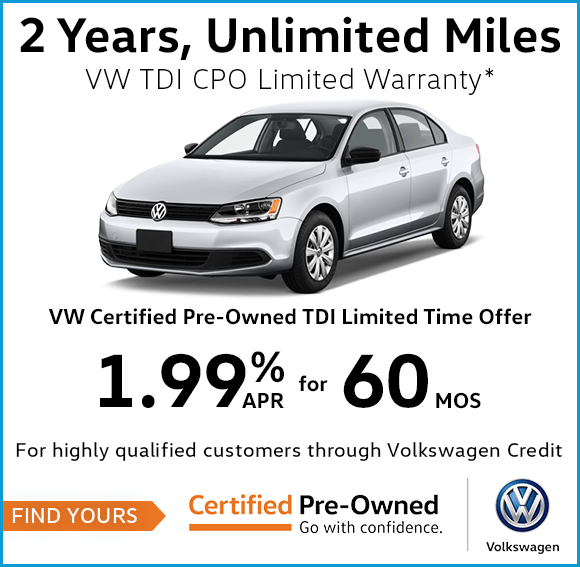 Volkswagen Certified Pre-Owned TDI Limited Time Offer in Columbus, OH