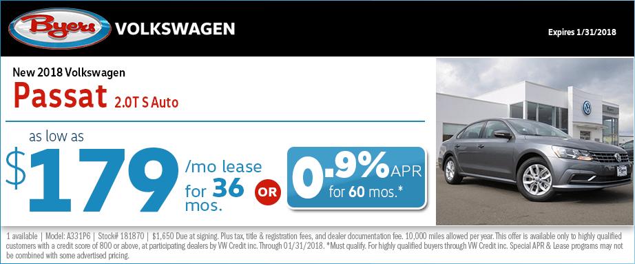 2018 Volkswagen Passat S Auto
