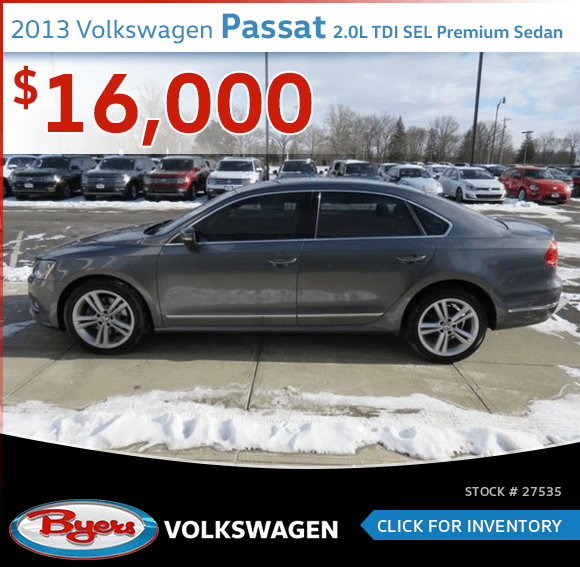 2013 Volkswagen Passat 2.0L TDI SEL Premium Sedan pre-owned special in Columbus, OH