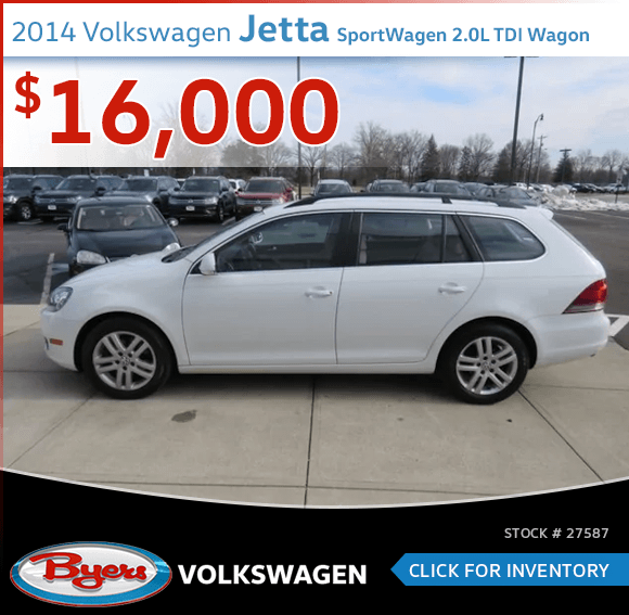 Save on a pre-owned 2014 Volkswagen Jetta SportWagen 2.0L TDI Wagon in Columbus, OH