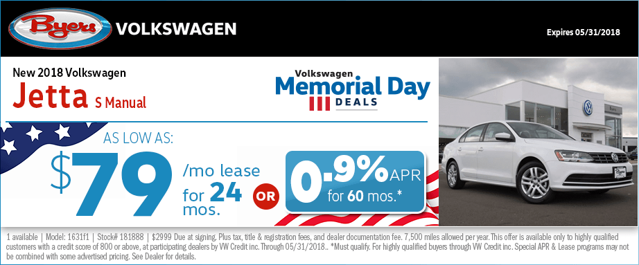 New 2018 Jetta Lease & Finance Offers in Columbus, OH at Byers Volkswagen