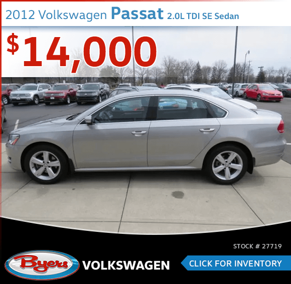 2012 Volkswagen Passat 2.0L TDI SE Sedan pre-owned discount in Columbus, OH