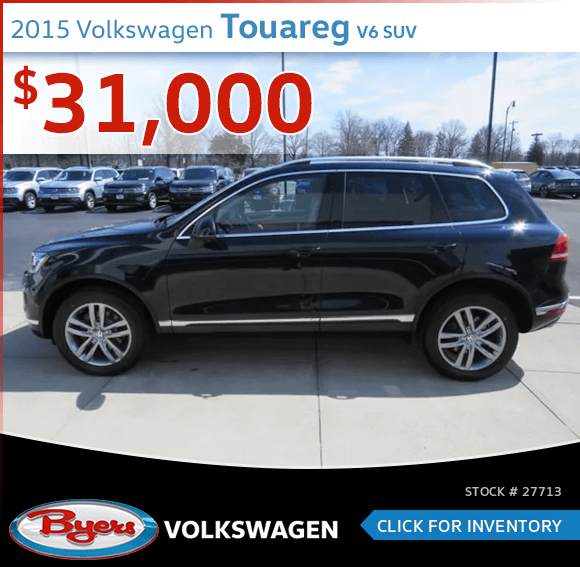2015 Volkswagen Touareg V6 SUV pre-owned discount in Columbus, OH