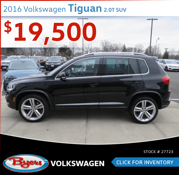2016 Volkswagen Tiguan 2.0T SUV pre-owned discount in Columbus, OH