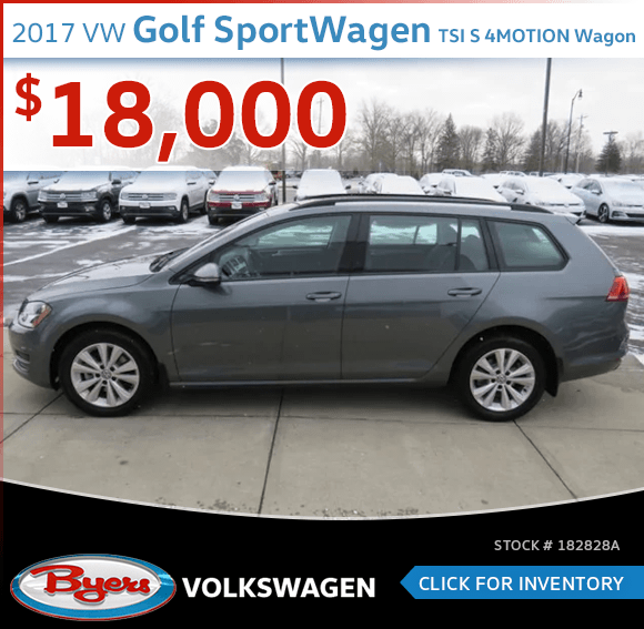 2017 Volkswagen Golf SportWagen TSI S 4MOTION Wagon pre-owned discount in Columbus, OH