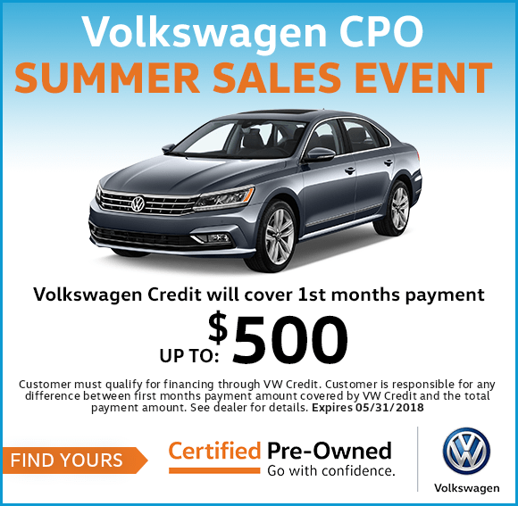 Volkswagen Certified Pre-Owned Summer Sales Event in Columbus, OH