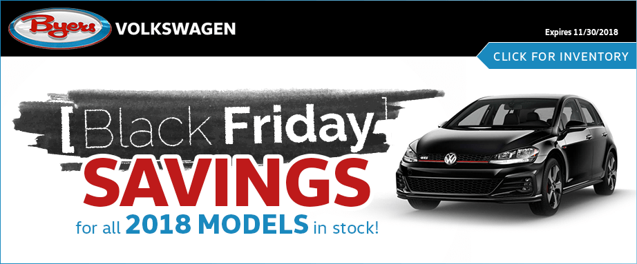 Black Friday savings on all 2018 Volkswagen models serving Columbus, OH