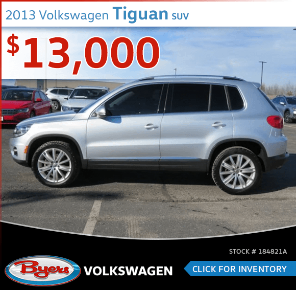 Save On This 2013 Volkswagen Tiguan SUV at Byers Volkswagen in Columbus, OH