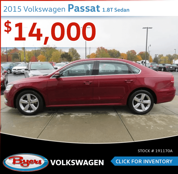 Save On This 2015 Volkswagen Passat 1.8T Sedan at Byers Volkswagen in Columbus, OH
