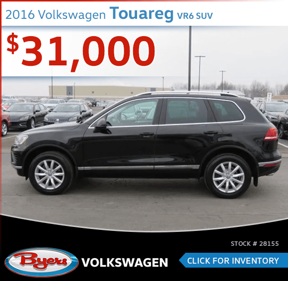 Save On This 2016 Volkswagen Touareg VR6 SUV at Byers Volkswagen in Columbus, OH