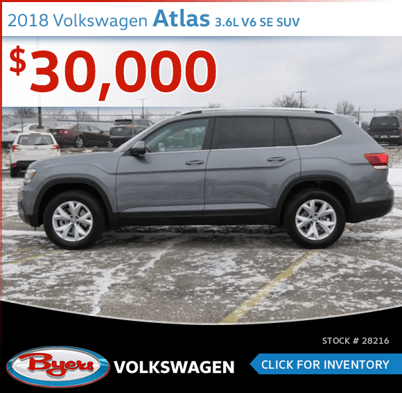 Save On This 2018 Volkswagen Atlas 3.6L V6 SE SUV at Byers Volkswagen in Columbus, OH