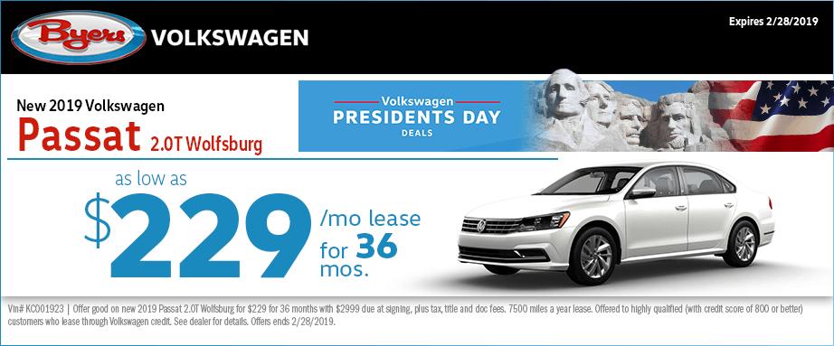 2019 Volkswagen Passat 2.0T Wolfsburg Low Payment Lease Special in Columbus, OH