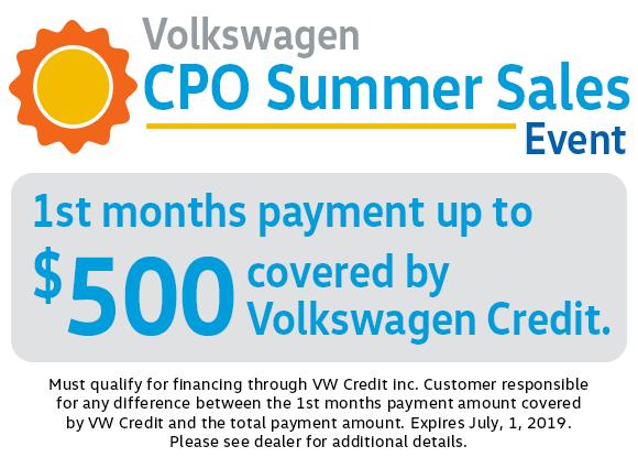 Volkswagen CPO Summer Sales Event in Columbus, OH
