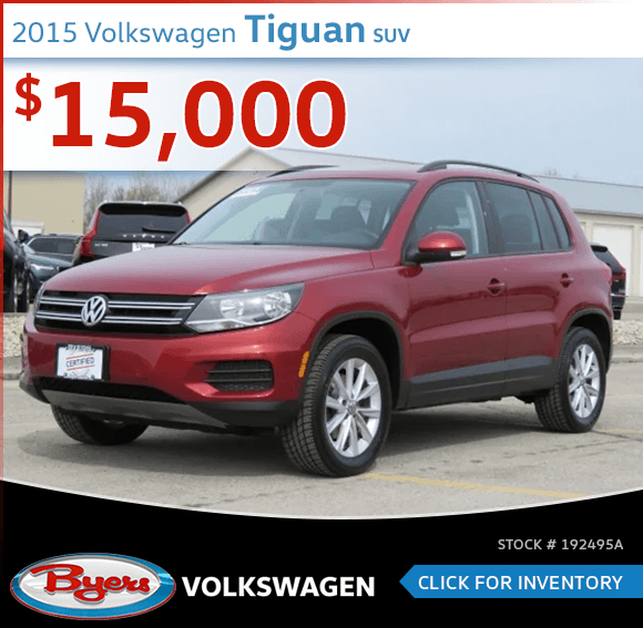 Pre-Owned 2015 Volkswagen Tiguan SUV special in Columbus, OH