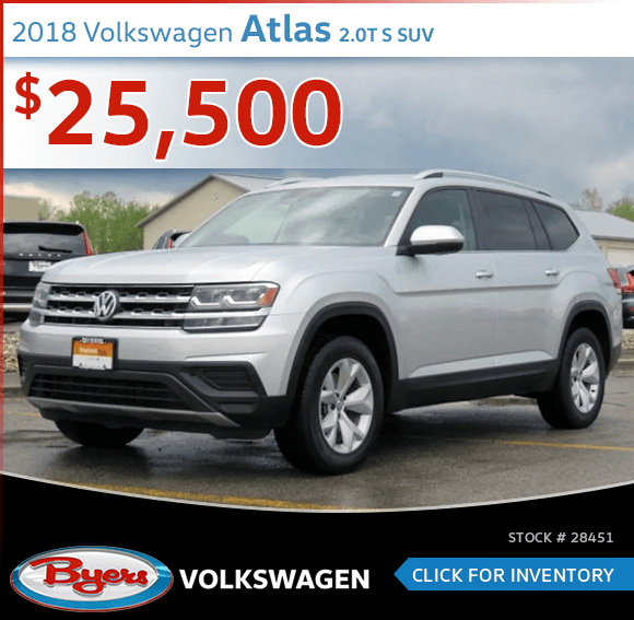 Pre-Owned 2018 Volkswagen Atlas 2.0T S SUV special in Columbus, OH