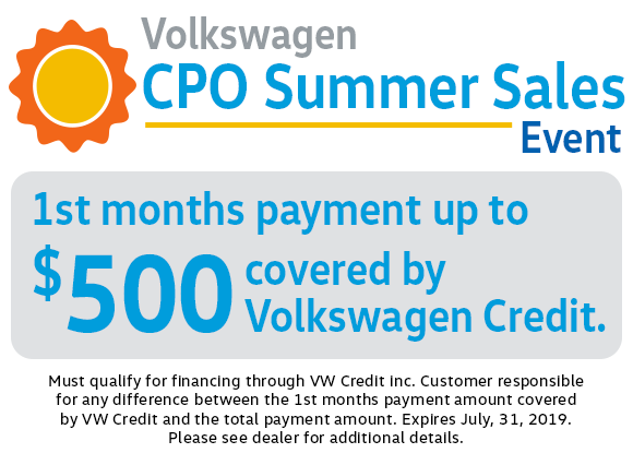 Volkswagen CPO Summer Sales Event in Columbus, OH