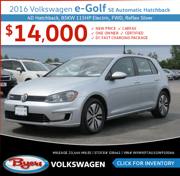 2016 Volkswagen e-Golf SE Automatic Hatchback Pre-Owned Special in Columbus, OH